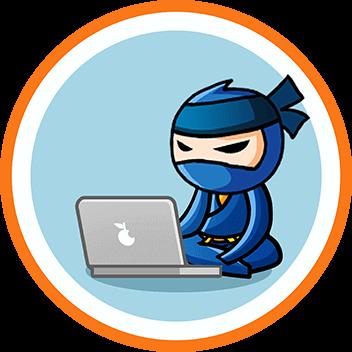 Ninja za pomocą laptopa