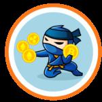 ninja trzyma bitcoiny